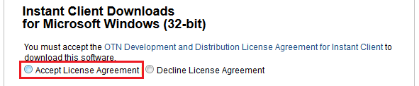 『Accept License Agreement』にチェック
