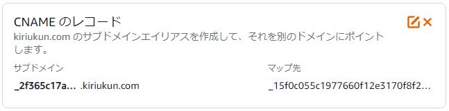 CNAMEレコード…